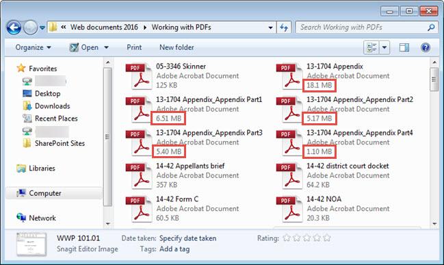 Dividing an oversized PDF