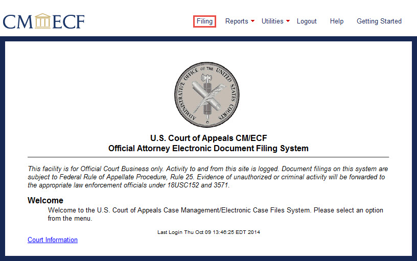 How To Use Cm Ecf Filing A Notice Of Intent To Resume