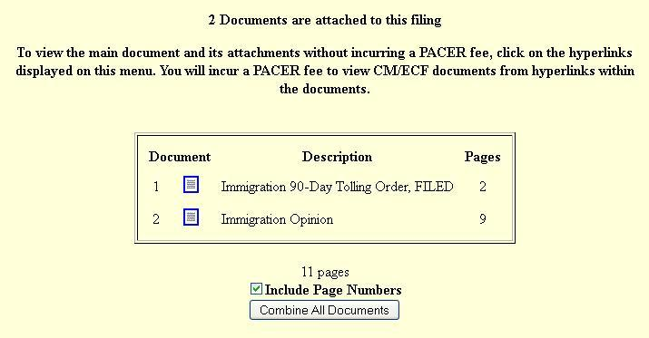 How To Use Cm/Ecf: Immigration Case Tolling