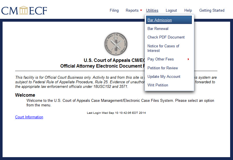 How To Submit An Attorney Admission Application In Cmecf And Pay