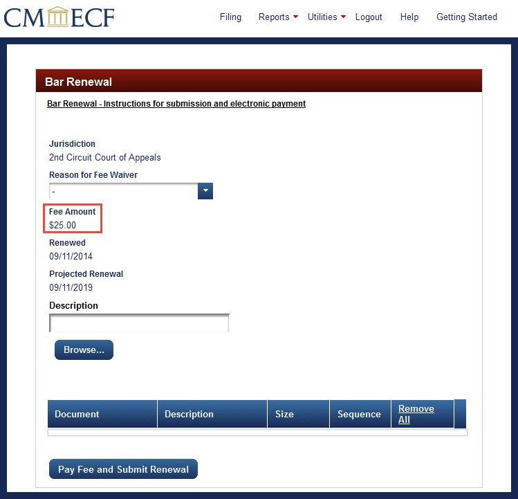 How To Submit An Admission Renewal Application In Cmecf And Pay The